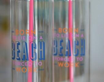 Born on a Beach Water Bottle