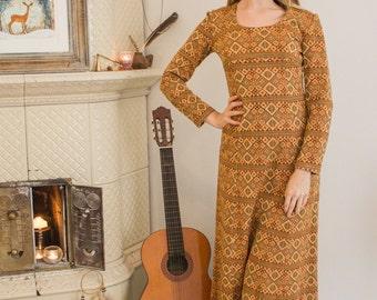 Boho Autumn Maxi Dress