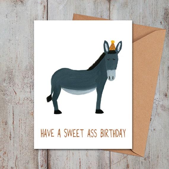 Sweet Ass Birthday Card