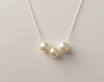 Freshwater pearl beads chain necklace