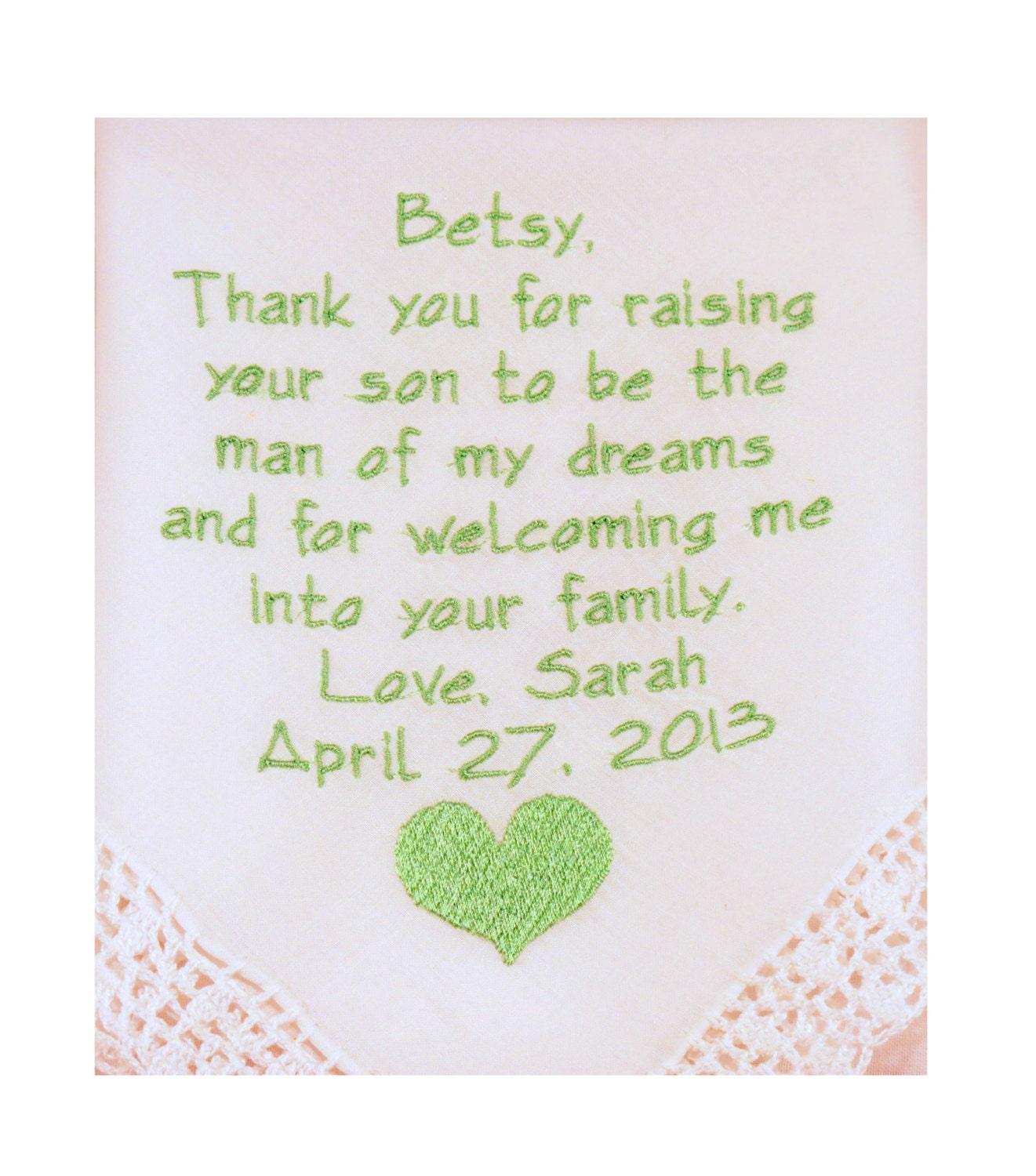 Mother In Law Gifts Wedding: Future Mother In Law Gift Personalized Wedding Embroidered