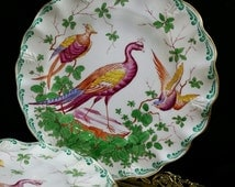 Crown Royal Derby Tea Plate Salad Plate Antique Transferware Platter England English China