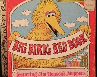 """Little Golden Book - """"Big Bird's Red Book"""" - 1977"""