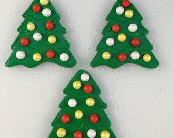 Fondant Christmas Trees, Christmas Toppers, Christmas Tree, Christmas Cupcakes