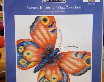 PEACOCK BUTTERFLY - DMC Counted Cross Stitch Kit - BK1538