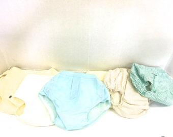 Vintage Diaper Covers / Side Snap Diaper Covers /Cloth Diapers /  Plastic Pants / Cloth covered /Bloomers Underwear Healthtex