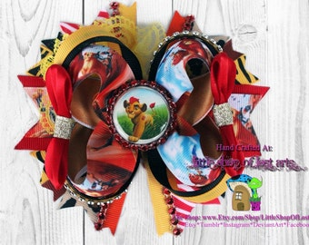 Lion guard on disneys lion king ribbon deluxe boutique hair bow