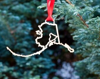 Alaska Highway Christmas Ornament
