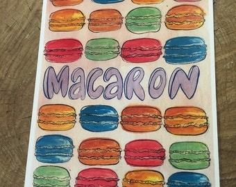 Macaron not Macaroon small digital print