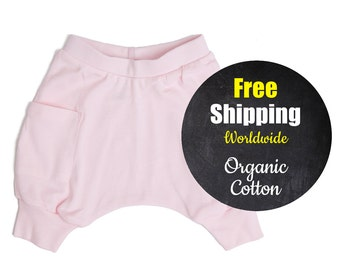 Girl Toddler Clothes - Toddler Girl Clothes, Girl Toddler Harem Shorts, Toddler Girl Shorts, Toddler Girl Harem Shorts - Ice Cream Pink