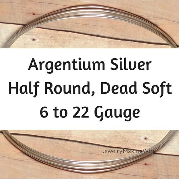 Argentium Silver Round Wire 12 Ga 1 2 Hard