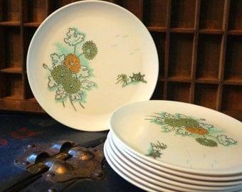 Vintage Miramar Melmac Dinnerware Plates