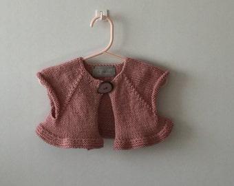 Girl's Pink Bolero Vest