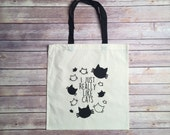 I Just Really Like Cats Tote Bag, Cat Lady, Cat Lover, Gift, Reusable, Cotton