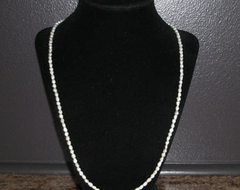 Vintage Rice Pearl Necklace