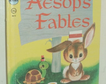 Vintage Aesop's Fables Rand McNally Elf Book 59c 1952 #8615