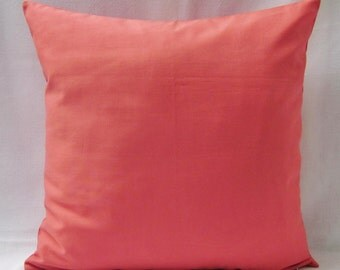 Coral Pillow Cover Decorative Throw Accent Sofa Bed Couch 16x16 18x18 20x20 22x22 12x14 12x16 12x18 12x20 14x22 Zipper
