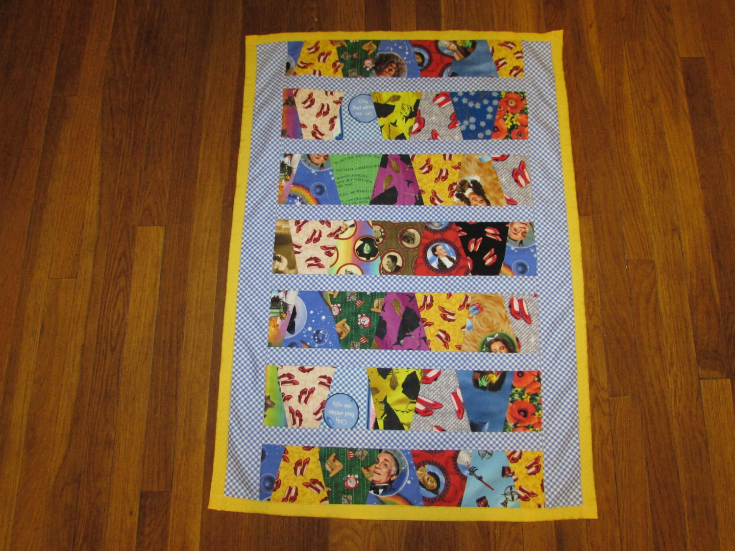 Wizard Of Oz Fabric Baby Quilt Toddler Blankie Blanket Car