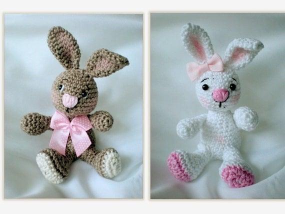 Bunny Amigurumi Pattern, Easter Rabbit Crochet Pattern