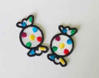 "Set of 2 Sweet Candy Iron on Patch (3/4"" x 1 3/8"")"