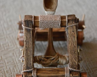 Handmade WORKING mini desktop catapult!