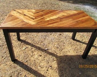 Rustic Kitchen Table, Rustic Modern Dining Table, Wood Art Table, Custom Kitchen Table, lath table, log cabin furniture, Stained wood table