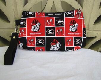 Georgia Bull Dogs Wristlet