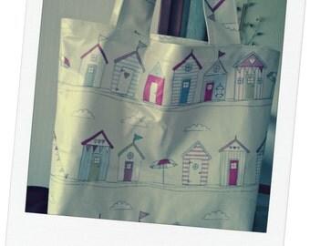 PVC Beach Bag, Beach PVC Tote Bag, PVC Shopping Bag, Beach Hut Bag, Summer Bag