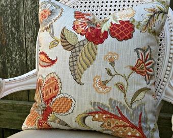 P Kaufmann Finders Keepers Linen Pillow Cover/ 20x20 Pillow Cover/ Toss Designer Decorative Pillow / Custom Linen Pillow Cover