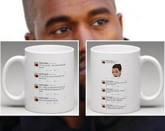 Kanye West & Wiz Khalifa 'Rekt' Mug