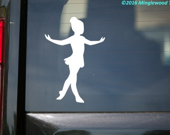 "Ballet Girl Dancer - Tendu - Vinyl Decal Sticker - 5"" x 3.5"" (girl1) *Free Shipping*"