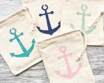 Anchor Wedding Favor Bags, Beach Wedding Favors, Destination Wedding Favor Bags, Tropical Wedding Favors, Nautical Wedding Favor Bags