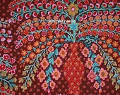 Kaffe Fassett Fabric - Phillip Jacobs - Persian Vase - GP100  Brown F166 Fat Quarter 100% Quality Cotton by Rowan Westminster OOP and Rare