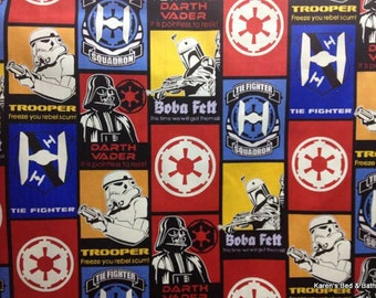 SALE 15% OFF Fabric Star Wars Darth Vader Storm Trooper Boba Fett Glow in the Dark Rare Very Collectible Pillows Wall Hangings Cotton