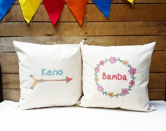 Personalized Couple Pillowcase,  Wedding Pillowcase, His and Her Pillowcase