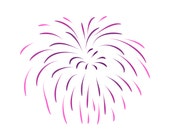 SVG Fireworks Cuttable File - INSTANT DOWNLOAD - for use with silhouette cameo, cricut, Sizzix, other machines