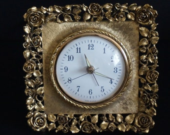 Vintage, Gold Toned Electric Clock