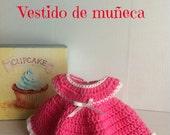 hacer vestido de muñeca de patron para crochet