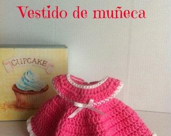 Tutorial: patron para hacer vestido de muñeca de crochet