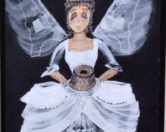 HANDMADE WALL HANGING-Marie Antoinette Angel, Home Decor Wall Art