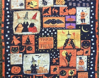 Halloween Wall Hanging, Quilted Halloween Decor, Witchful Thinking, Halloween Wall Decor, Wall Quilt, Fall Wall Decor, Halloween Gift