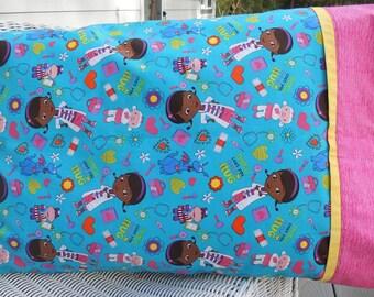 Doc McStuffins Pillowcase, FOUR Choices, Kids Pillowcase, Toddler Pillowcase, Girls Bedding, Pet Vet, Diversity, Standard Size Pillowcase