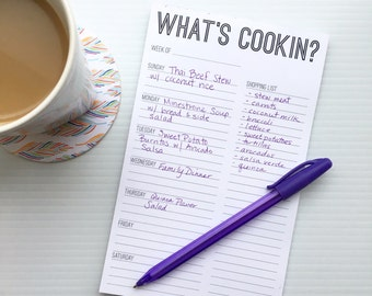 Meal Planning Notepad - What's Cookin?