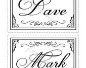 Kayla Wedding Signs 5x7 Custom Table Signage