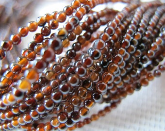 2mm Light Chocolate Agate Round Beads S230