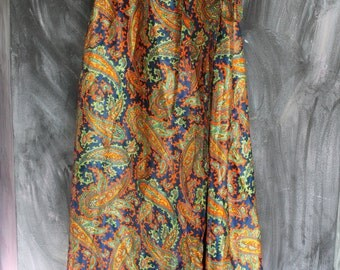 Silk Paisley Wrap Maxi Skirt