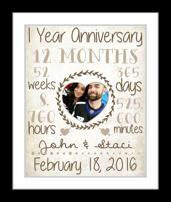 year anniversary present, wedding anniversary gift, first year paper ...