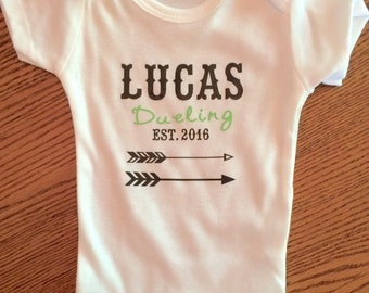 Personalized Name Onesie, Baby Shower Gift