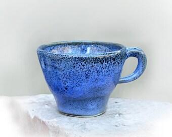 """Espresso Cup Deep Blue """"Oil Spot"""" Ceramic"""