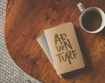 Tan Adventure Moleskine Notebook - Wild Creatives